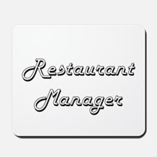 Restaurant Manager Classic Job Design Mousepad