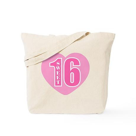 Sweet 16 (Heart) Tote Bag