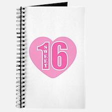 Sweet 16 (Heart) Journal