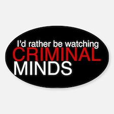 Criminal Minds Black Sticker (Oval)