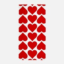 Red Hearts Pattern Beach Towel