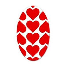 Red Hearts Pattern Wall Sticker