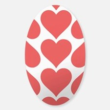 Red Hearts Pattern Decal
