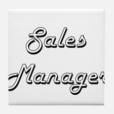 Sales Manager Classic Job Design Tile Coaster