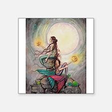 Gemini Mermaids Fantasy Art Sticker