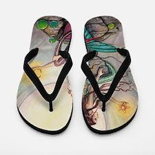 Gemini Mermaids Fantasy Art Flip Flops