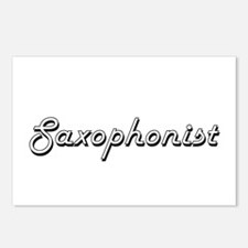 Saxophonist Classic Job D Postcards (Package of 8)