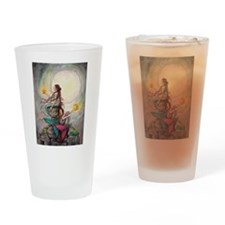 Gemini Mermaids Fantasy Art Drinking Glass