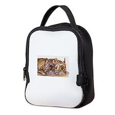 Brindle French Bulldogs Neoprene Lunch Bag