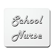 School Nurse Classic Job Design Mousepad