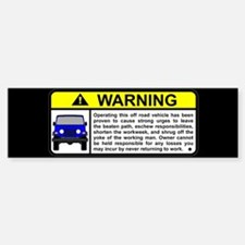 Offroad Vehicle Warning Visor Bumper Bumper Bumper Sticker