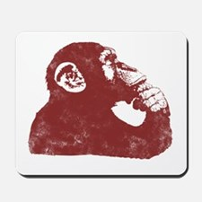 Thoughtful Monkey - Red Mousepad