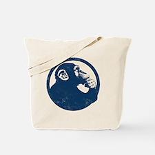 Thoughtful Monkey 2 - Blue Tote Bag