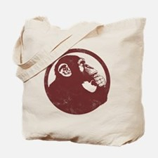 Thoughtful Monkey 2 - Red Tote Bag