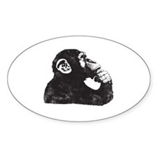 Thoughtful Monkey  Decal