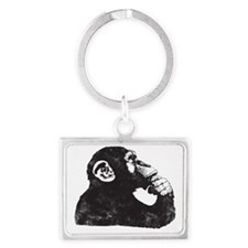 Thoughtful Monkey  Landscape Keychain
