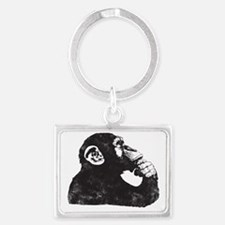 Thoughtful Monkey  Landscape Keychain