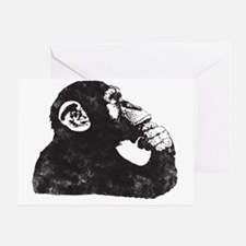 Thoughtful Monkey  Greeting Card