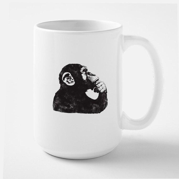 Thoughtful Monkey  Large Mug