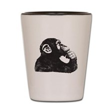 Thoughtful Monkey  Shot Glass