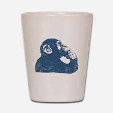 Thoughtful Monkey - Blue Shot Glass
