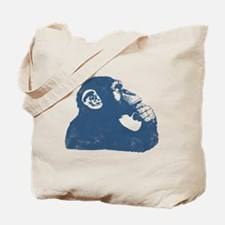 Thoughtful Monkey - Blue Tote Bag