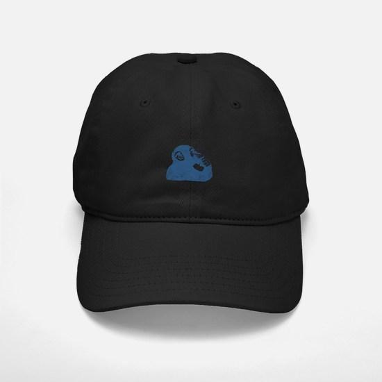 Thoughtful Monkey - Blue Baseball Hat