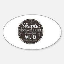 Skeptic Label Sticker (Oval)