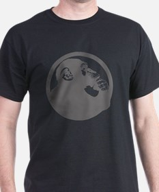 Thoughtful Monkey 2 - Gray T-Shirt