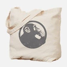 Thoughtful Monkey 2 - Gray Tote Bag