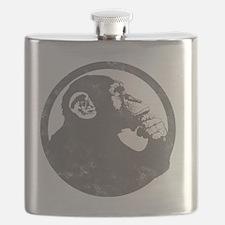 Thoughtful Monkey 2 - Gray Flask