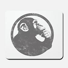 Thoughtful Monkey 2 - Gray Mousepad