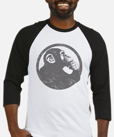 Thoughtful Monkey 2 - Gray Baseball Jersey