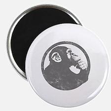 Thoughtful Monkey 2 - Gray Magnet
