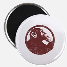 Thoughtful Monkey 2 - Red Magnet
