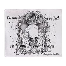 The Way to See by Faith Throw Blanket