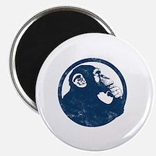 Thoughtful Monkey 2 - Blue Magnet