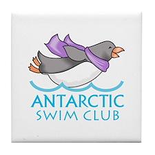 ANTARCTIC SWIM CLUB Tile Coaster