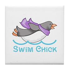 SWIM CHICK Tile Coaster