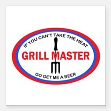 "GRILL MASTER Square Car Magnet 3"" x 3"""