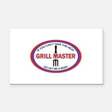 GRILL MASTER Rectangle Car Magnet