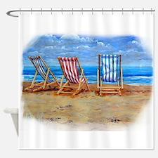Beach Chairs Shower Curtain
