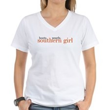 boots, pearls, southern girl T-Shirt