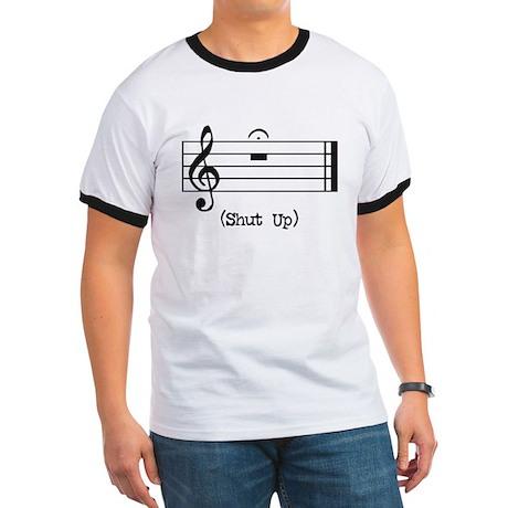 Shut Up (in musical notation) Ringer T