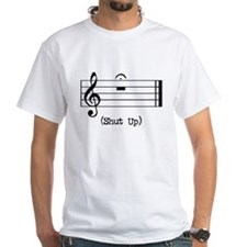Shut Up (in musical notation) Shirt