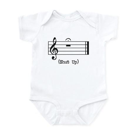 Shut Up (in musical notation) Infant Bodysuit