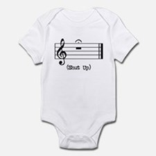 Shut Up (in musical notation) Infant Bodysuit
