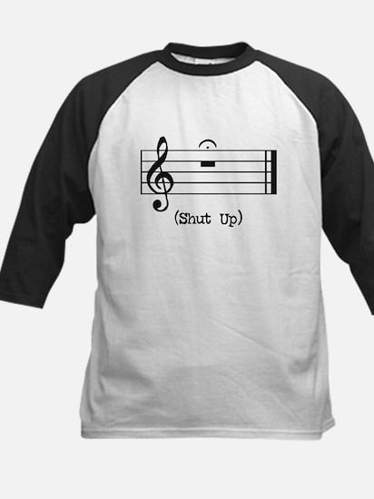 Shut Up (in musical notation) Kids Baseball Jersey