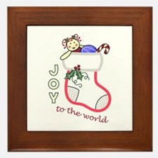 JOY APPLIQUE Framed Tile