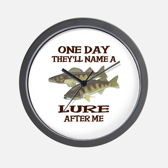 NAME A LURE AFTER ME Wall Clock